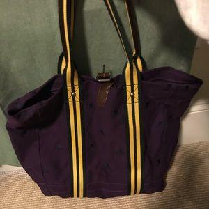 Purple Rugby tote bag